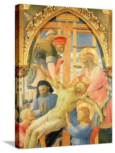 Santa Trinita Altarpiece, Detail of the Dead Christ Being Lowered from the Cross, C.1434-Fra Angelico-Stretched Canvas Print