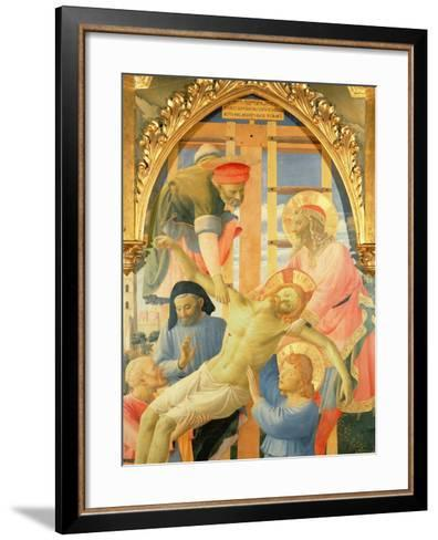 Santa Trinita Altarpiece, Detail of the Dead Christ Being Lowered from the Cross, C.1434-Fra Angelico-Framed Art Print