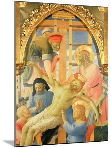 Santa Trinita Altarpiece, Detail of the Dead Christ Being Lowered from the Cross, C.1434-Fra Angelico-Mounted Giclee Print