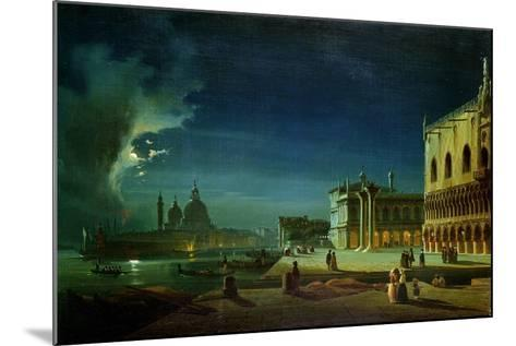 Venice by Moonlight-Ippolito Caffi-Mounted Giclee Print