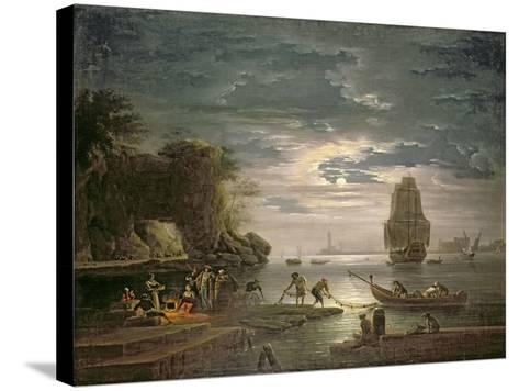 The Night-Claude Joseph Vernet-Stretched Canvas Print