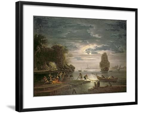 The Night-Claude Joseph Vernet-Framed Art Print