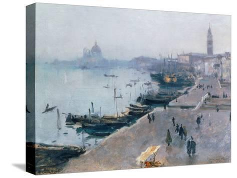 Venice in Grey Weather-John Singer Sargent-Stretched Canvas Print