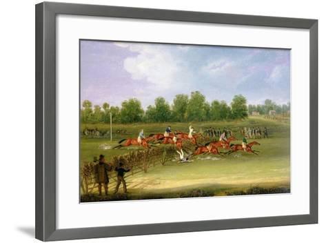 St Albans Tally-Ho Stakes, May 22nd 1834-James Pollard-Framed Art Print