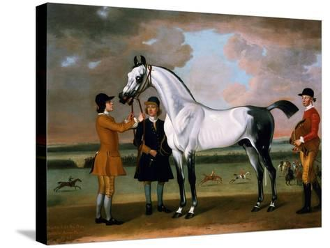The Duke of Bolton's 'starling' with a Jockey and Groom at Newmarket, 1734-Thomas Spencer-Stretched Canvas Print