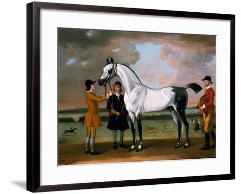 The Duke of Bolton's 'starling' with a Jockey and Groom at Newmarket, 1734-Thomas Spencer-Framed Art Print