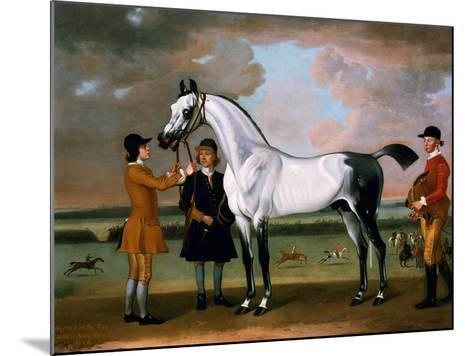 The Duke of Bolton's 'starling' with a Jockey and Groom at Newmarket, 1734-Thomas Spencer-Mounted Giclee Print