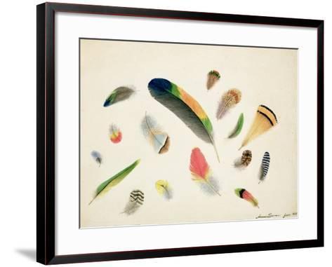 Studies of Feathers, 1855-Anne Bowen-Framed Art Print