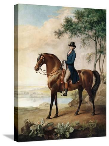 Warren Hastings Esq. on His Arabian Horse, after a Painting by George Stubbs, 1796 (1724-1806)-George Townley Stubbs-Stretched Canvas Print