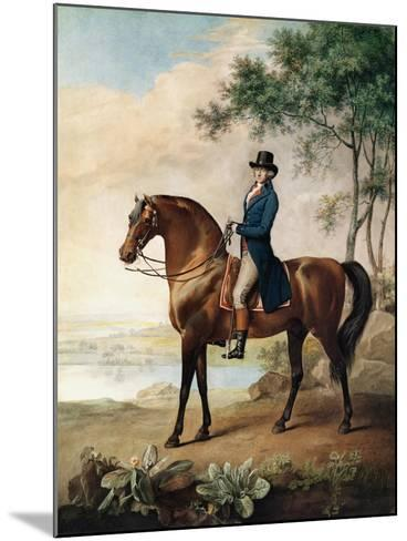 Warren Hastings Esq. on His Arabian Horse, after a Painting by George Stubbs, 1796 (1724-1806)-George Townley Stubbs-Mounted Giclee Print