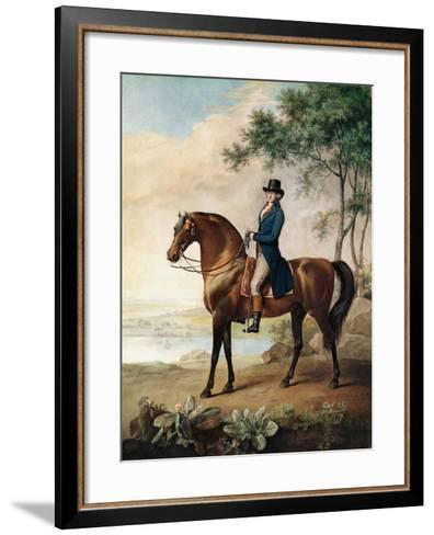 Warren Hastings Esq. on His Arabian Horse, after a Painting by George Stubbs, 1796 (1724-1806)-George Townley Stubbs-Framed Art Print