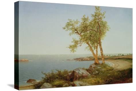 Rhode Island Coast, New England-John Frederick Kensett-Stretched Canvas Print