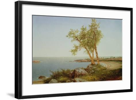 Rhode Island Coast, New England-John Frederick Kensett-Framed Art Print