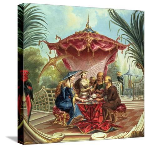 Chinese Tea-Jacques Vigoureux Duplessis-Stretched Canvas Print