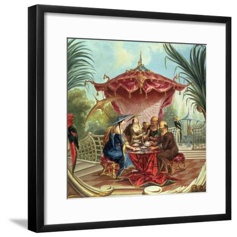 Chinese Tea-Jacques Vigoureux Duplessis-Framed Art Print