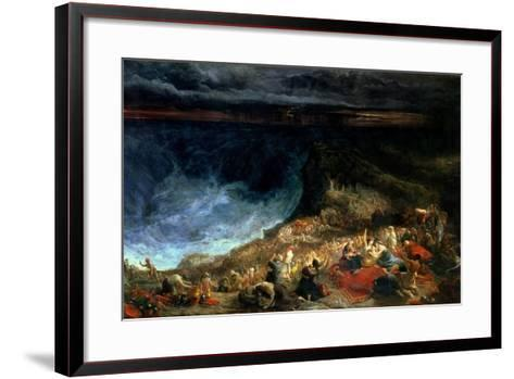 The Delivery of Israel - Pharaoh and His Hosts Overwhelmed in the Red Sea, 1825-Francis Danby-Framed Art Print