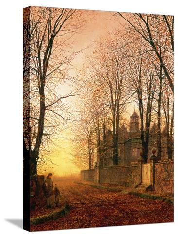 In the Golden Olden Time, C.1870-John Atkinson Grimshaw-Stretched Canvas Print