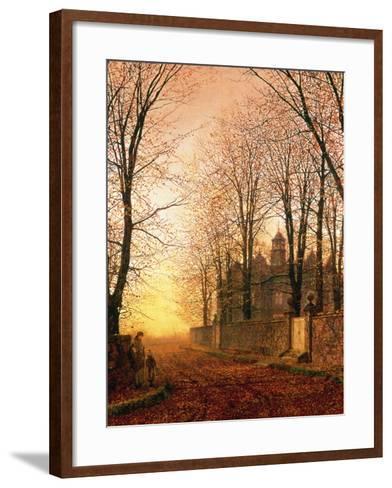 In the Golden Olden Time, C.1870-John Atkinson Grimshaw-Framed Art Print