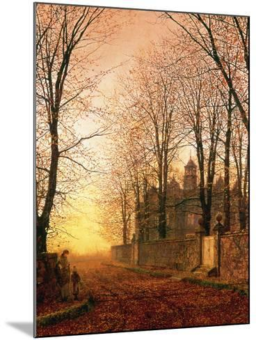 In the Golden Olden Time, C.1870-John Atkinson Grimshaw-Mounted Giclee Print