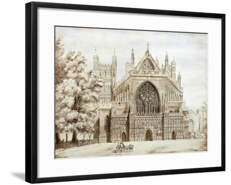 Exeter Cathedral, West Front--Framed Art Print