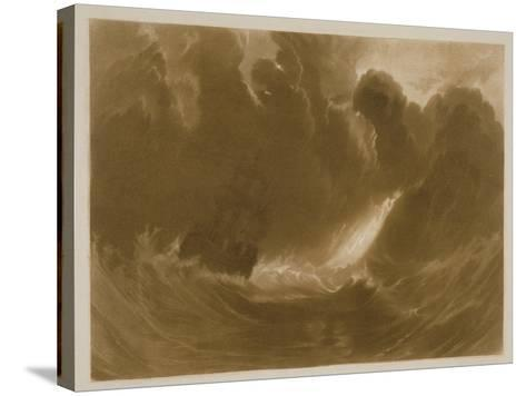 R.803 Ship in a Storm, from the 'Little Liber', Engraved by the Artist, C.1826-J^ M^ W^ Turner-Stretched Canvas Print