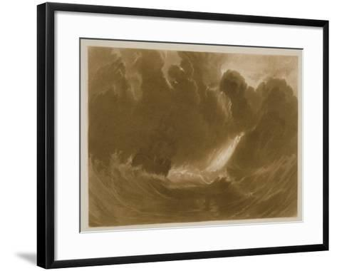 R.803 Ship in a Storm, from the 'Little Liber', Engraved by the Artist, C.1826-J^ M^ W^ Turner-Framed Art Print