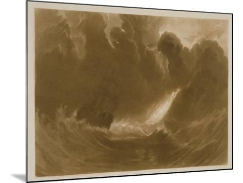 R.803 Ship in a Storm, from the 'Little Liber', Engraved by the Artist, C.1826-J^ M^ W^ Turner-Mounted Giclee Print