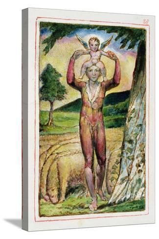Frontispiece to Songs of Experience: Plate 28 from Songs of Innocence and of Experience C.1815-26-William Blake-Stretched Canvas Print