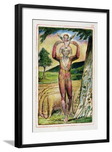 Frontispiece to Songs of Experience: Plate 28 from Songs of Innocence and of Experience C.1815-26-William Blake-Framed Art Print