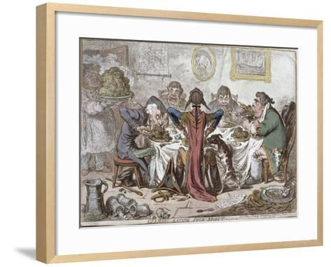 """Germans Eating Sour-Krout"", Pub. by Hannah Humphrey, 1803-James Gillray-Framed Art Print"