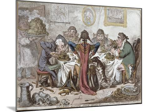 """Germans Eating Sour-Krout"", Pub. by Hannah Humphrey, 1803-James Gillray-Mounted Giclee Print"