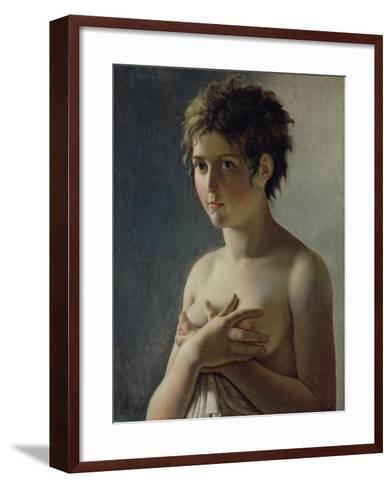Portrait of a Young Girl, 1812-Baron Pierre-Narcisse Guerin-Framed Art Print