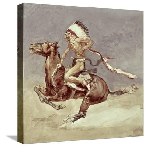 Pony War Dance-Frederic Sackrider Remington-Stretched Canvas Print
