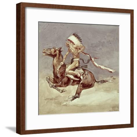 Pony War Dance-Frederic Sackrider Remington-Framed Art Print