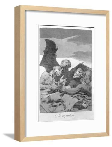 They Spruce Themselves Up, Plate 51 of 'Los Caprichos', 1799-Francisco de Goya-Framed Art Print
