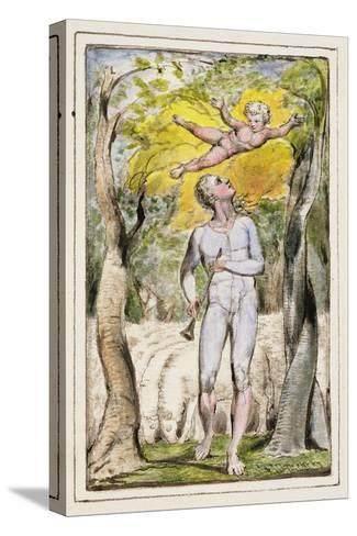 Frontispiece to Songs of Innocence: Plate 1 from Songs of Innocence and of Experience C.1802-08-William Blake-Stretched Canvas Print