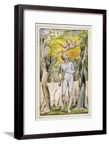 Frontispiece to Songs of Innocence: Plate 1 from Songs of Innocence and of Experience C.1802-08-William Blake-Framed Art Print