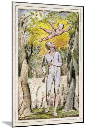 Frontispiece to Songs of Innocence: Plate 1 from Songs of Innocence and of Experience C.1802-08-William Blake-Mounted Giclee Print