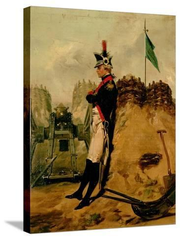 Alexander Hamilton (1757-1804) in the Uniform of the New York Artillery-Alonzo Chappel-Stretched Canvas Print