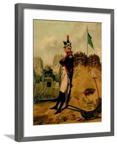 Alexander Hamilton (1757-1804) in the Uniform of the New York Artillery-Alonzo Chappel-Framed Art Print