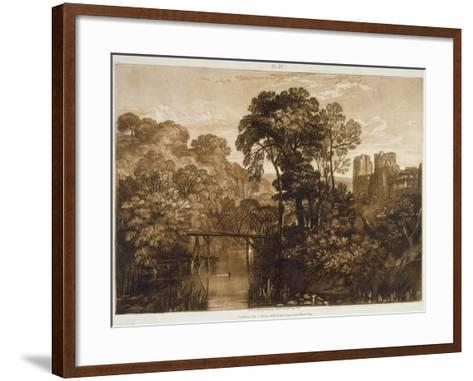 F.58.I Berry Pomeroy Castle, from the 'Liber Studiorum', Engraved by the Artist, 1816-J^ M^ W^ Turner-Framed Art Print