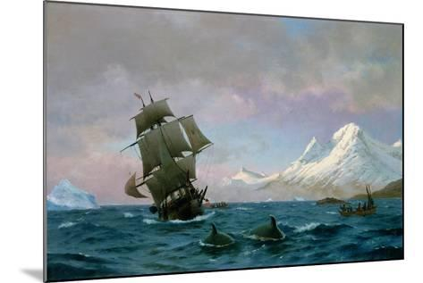 Catching Whales, 1875-J.E. Carl Rasmussen-Mounted Giclee Print