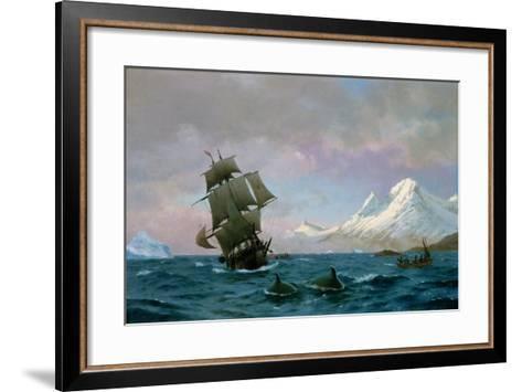 Catching Whales, 1875-J.E. Carl Rasmussen-Framed Art Print