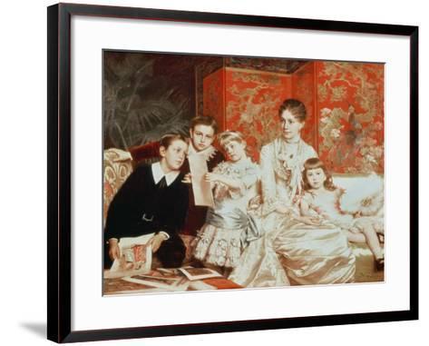 Family Group-Michele Gordigiani-Framed Art Print