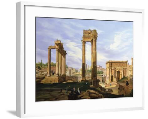 View of the Roman Forum-Jodocus Sebasiaen Adeele-Framed Art Print