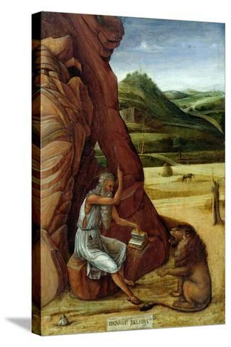 St. Jerome in the Wilderness, C.1450-Giovanni Bellini-Stretched Canvas Print