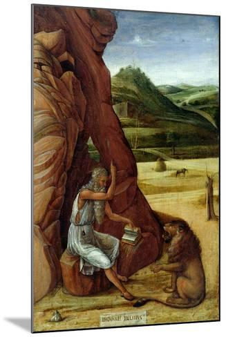 St. Jerome in the Wilderness, C.1450-Giovanni Bellini-Mounted Giclee Print
