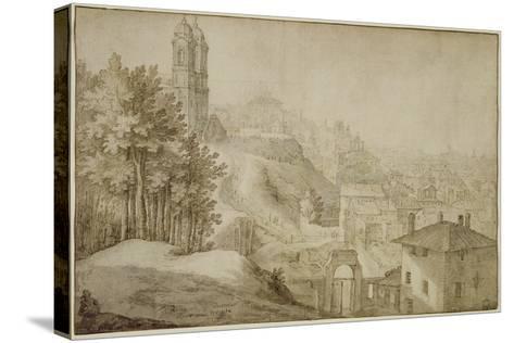 Pd.516-1963 View of Trinita Dei Monti, Rome, 1603-Willem van Nieulandt-Stretched Canvas Print