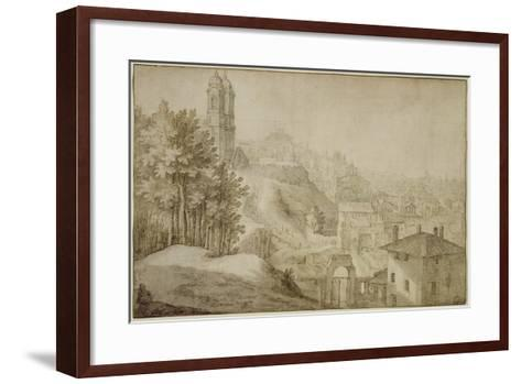 Pd.516-1963 View of Trinita Dei Monti, Rome, 1603-Willem van Nieulandt-Framed Art Print