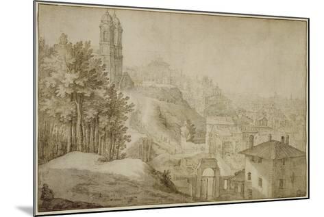 Pd.516-1963 View of Trinita Dei Monti, Rome, 1603-Willem van Nieulandt-Mounted Giclee Print